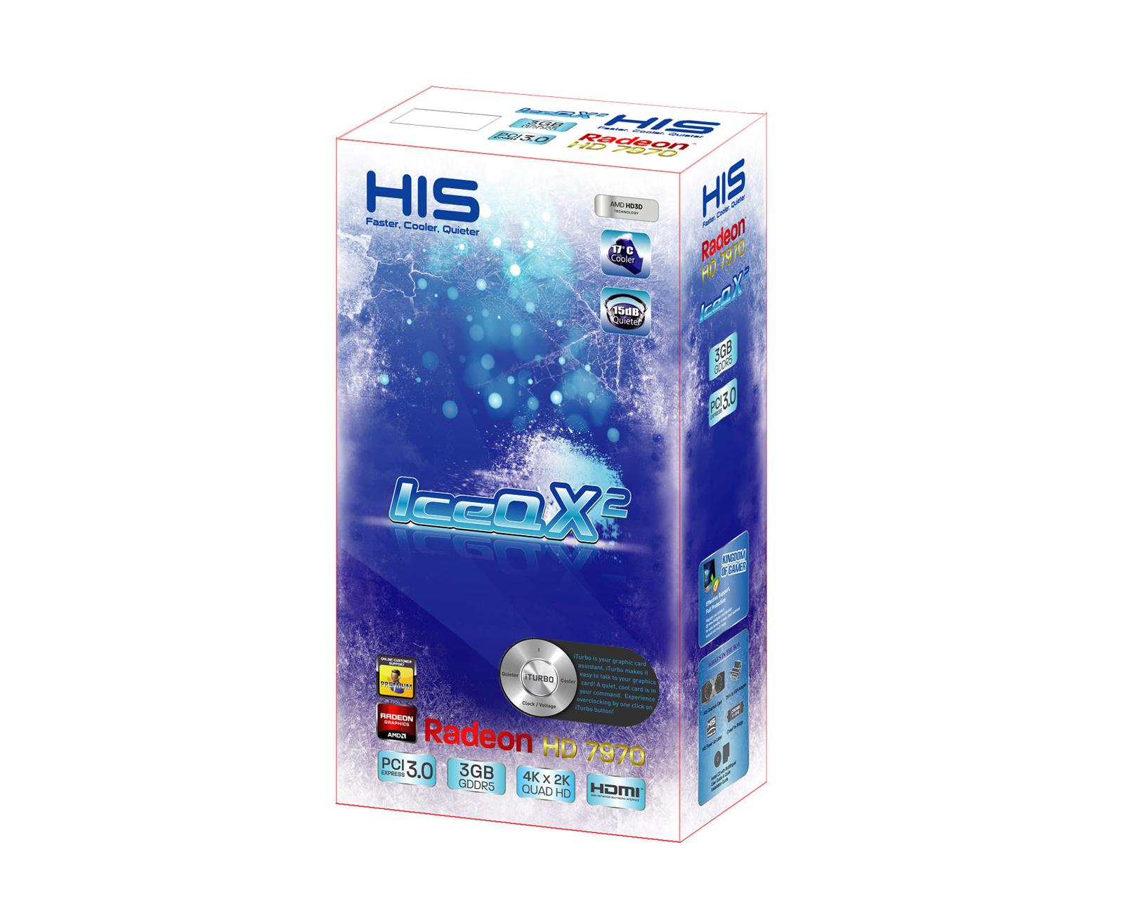HIS 7970 IceQ X² 3GB GDDR5 PCI-E DVI/HDMI/2xMini DP (iPower