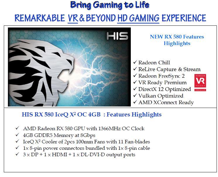 HIS RX 580 IceQ X² OC 4GB < RX 580 Series < Desktop graphics