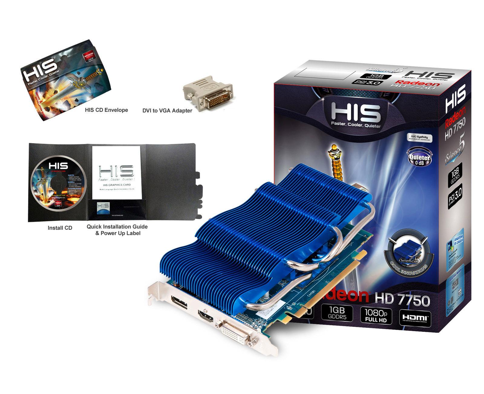 Pubg Radeon Hd 7750: HIS AMD Radeon HD 7750 ISilence 5 1GB GDDR5 HDMI DP DL-DVI