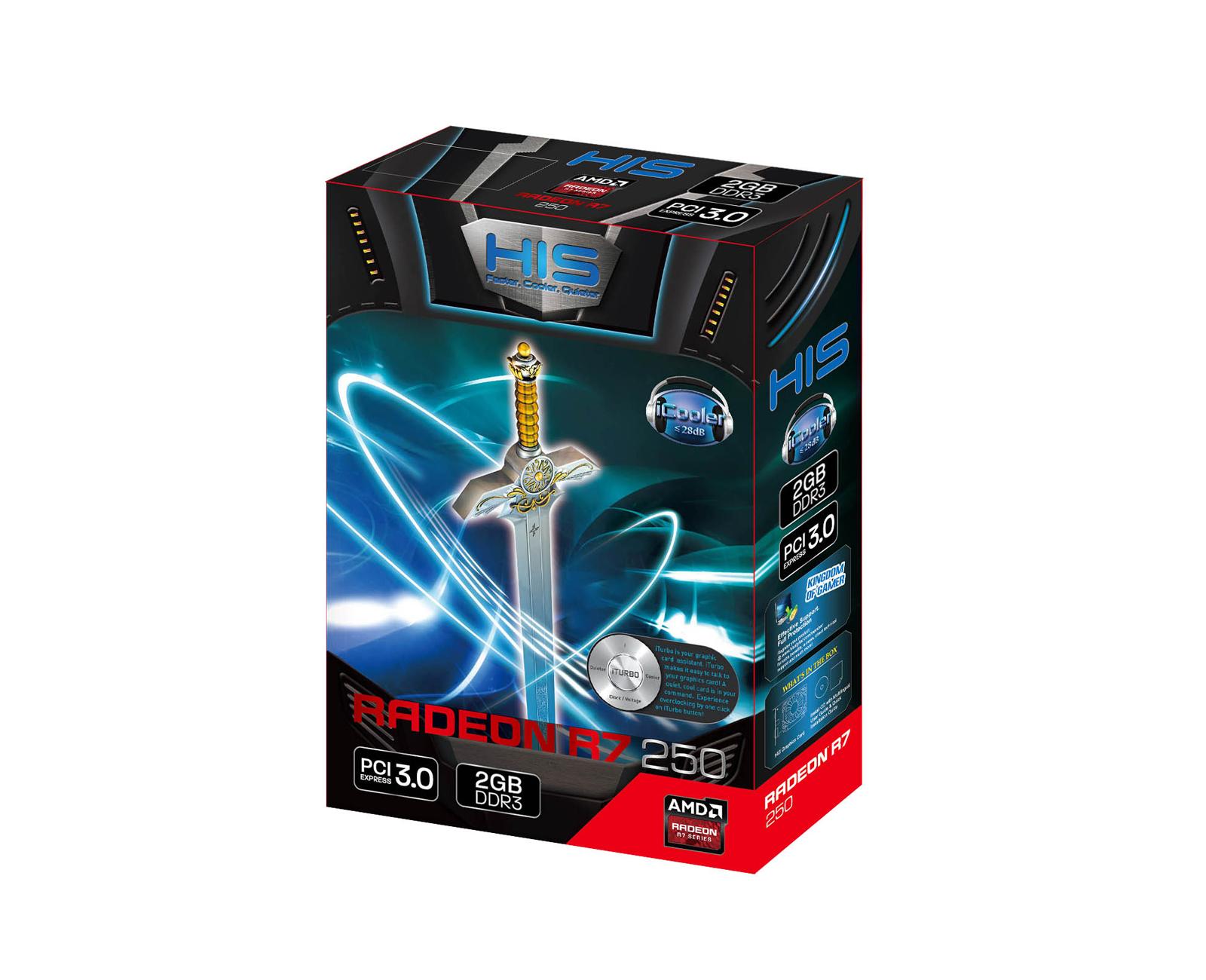 HIS R7 250 iCooler Boost Clock 2GB DDR3 PCI-E HDMI/SLDVI-D/VGA < R7