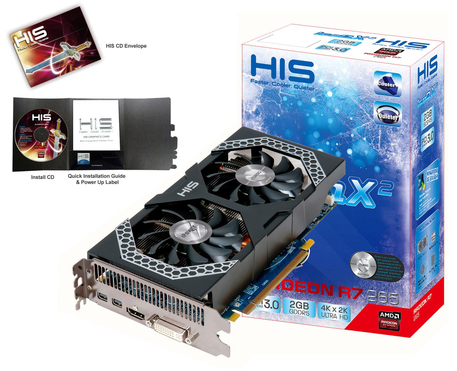 Hasil gambar untuk 1. IceQ HIS X2 2GB DDR5 R7 265-bit