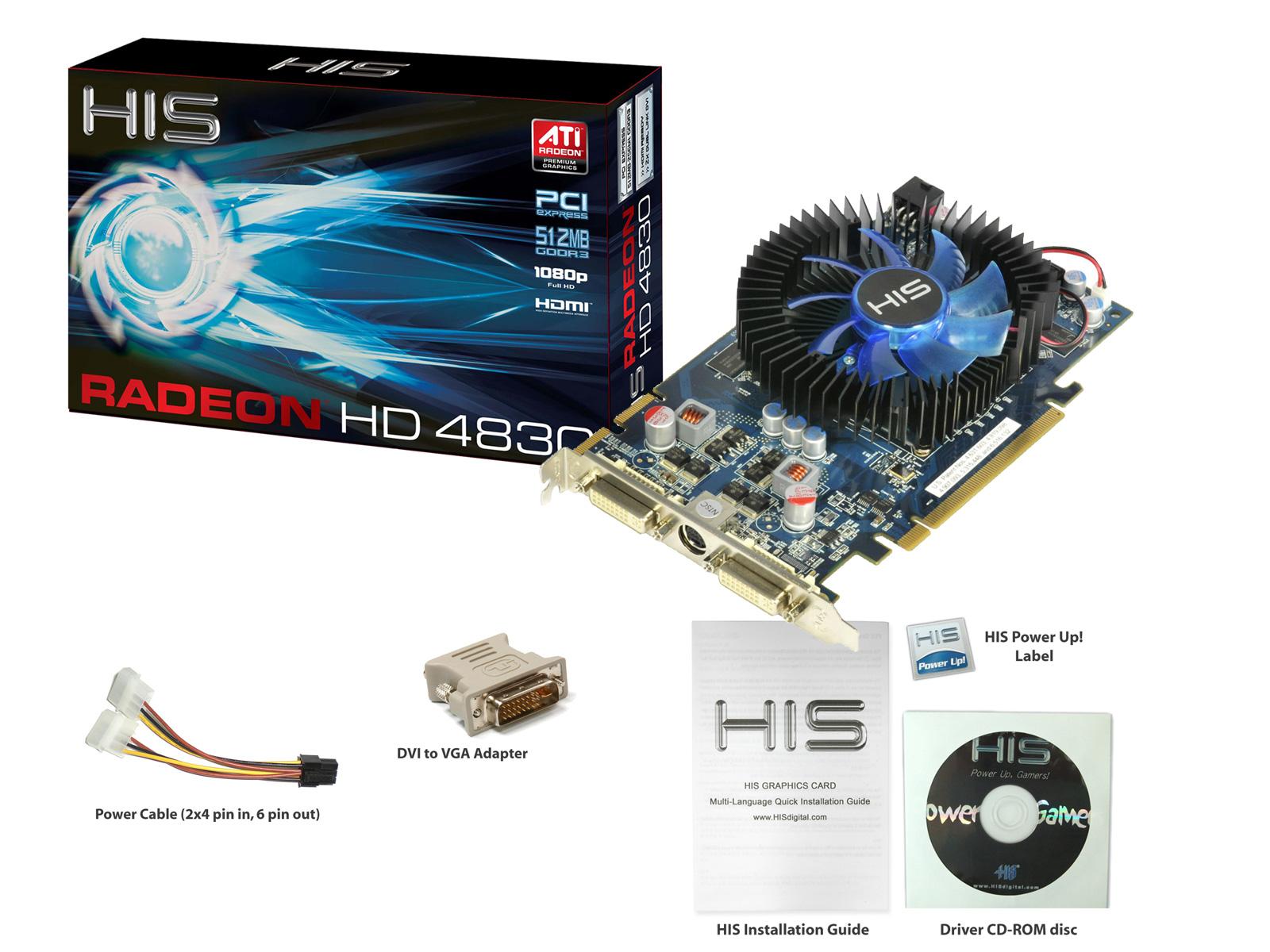 Sapphire Radeon HD4830 512MB DDR3 Dual DVI TVO PCI-Express Graphics Card