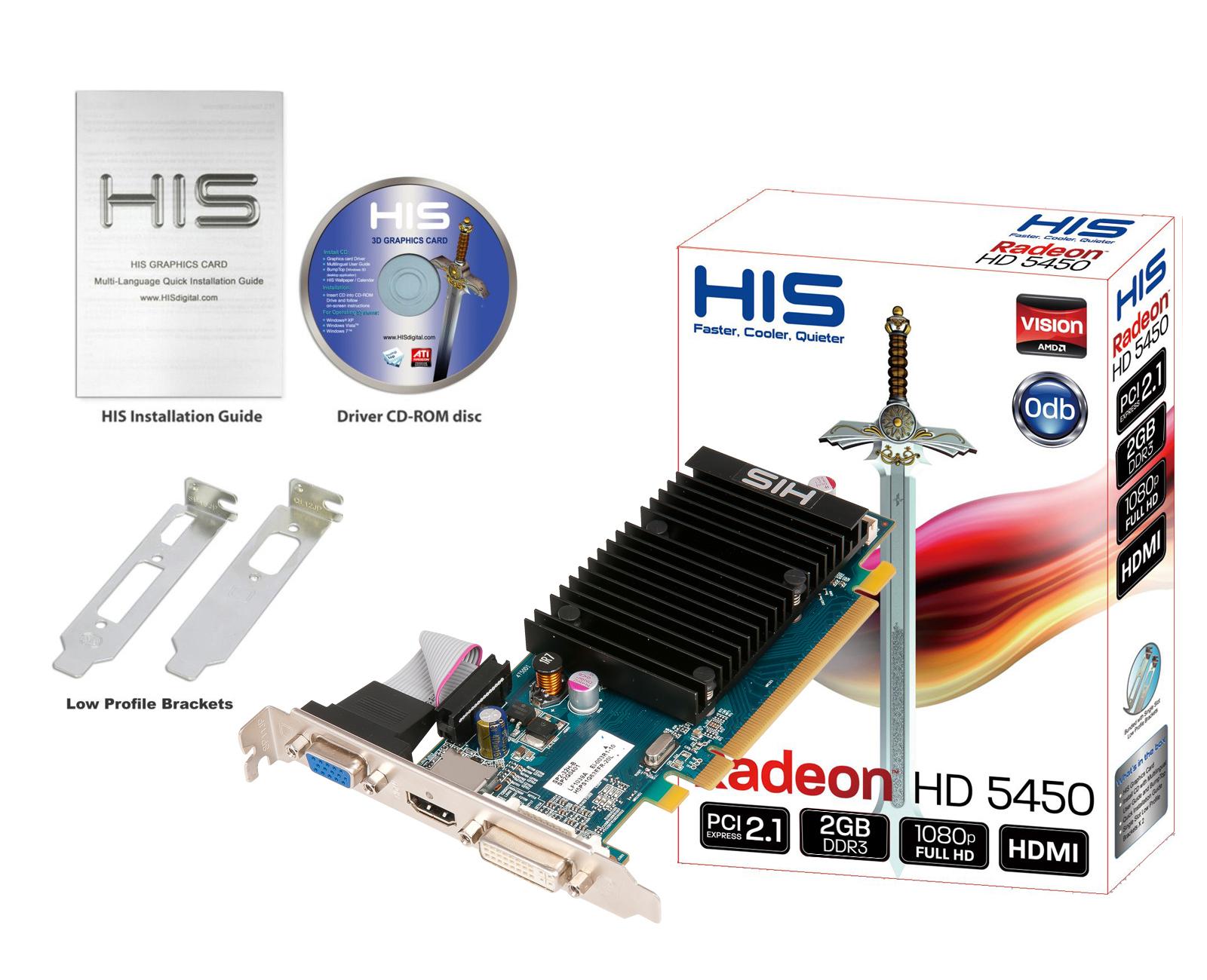 HIS 5450 Silence 2GB DDR3 PCI-E DVI/HDMI/VGA