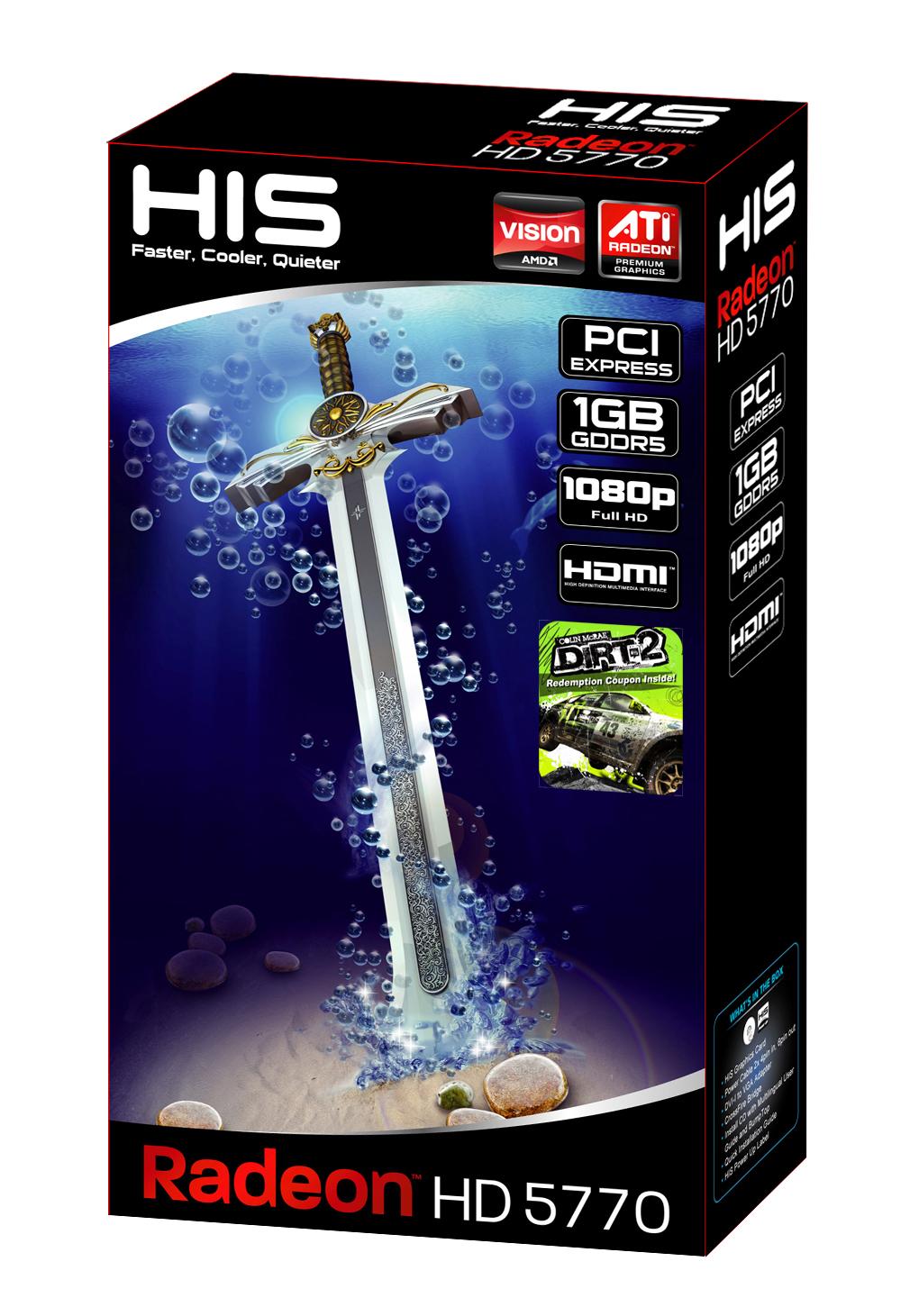 HIS HD 5770 Fan 1GB (128bit) GDDR5 PCIe (DirectX 11/ Eyefinity