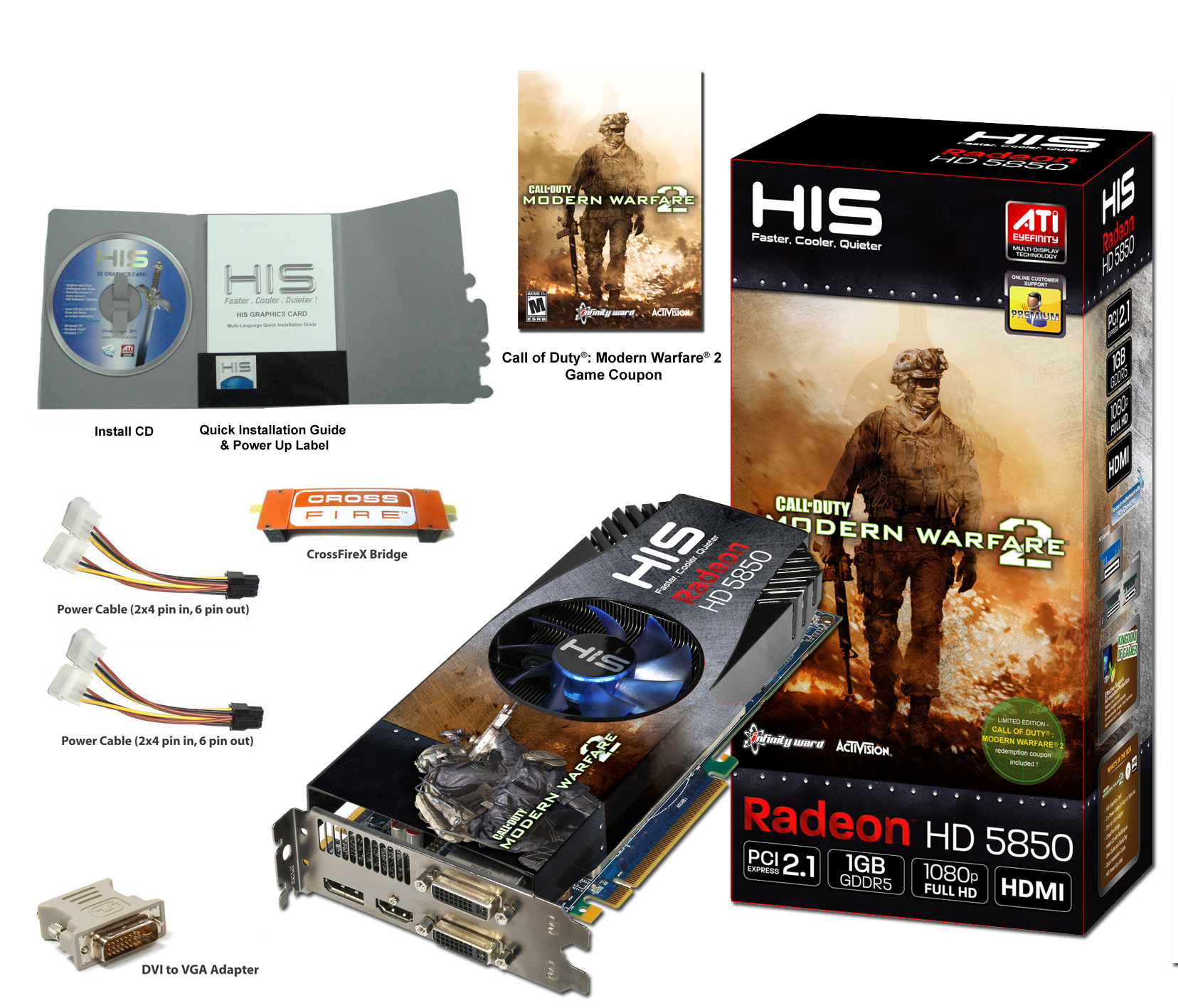 HIS HD 5850 iCooler V 1GB (256bit) GDDR5 PCIe (DirectX 11