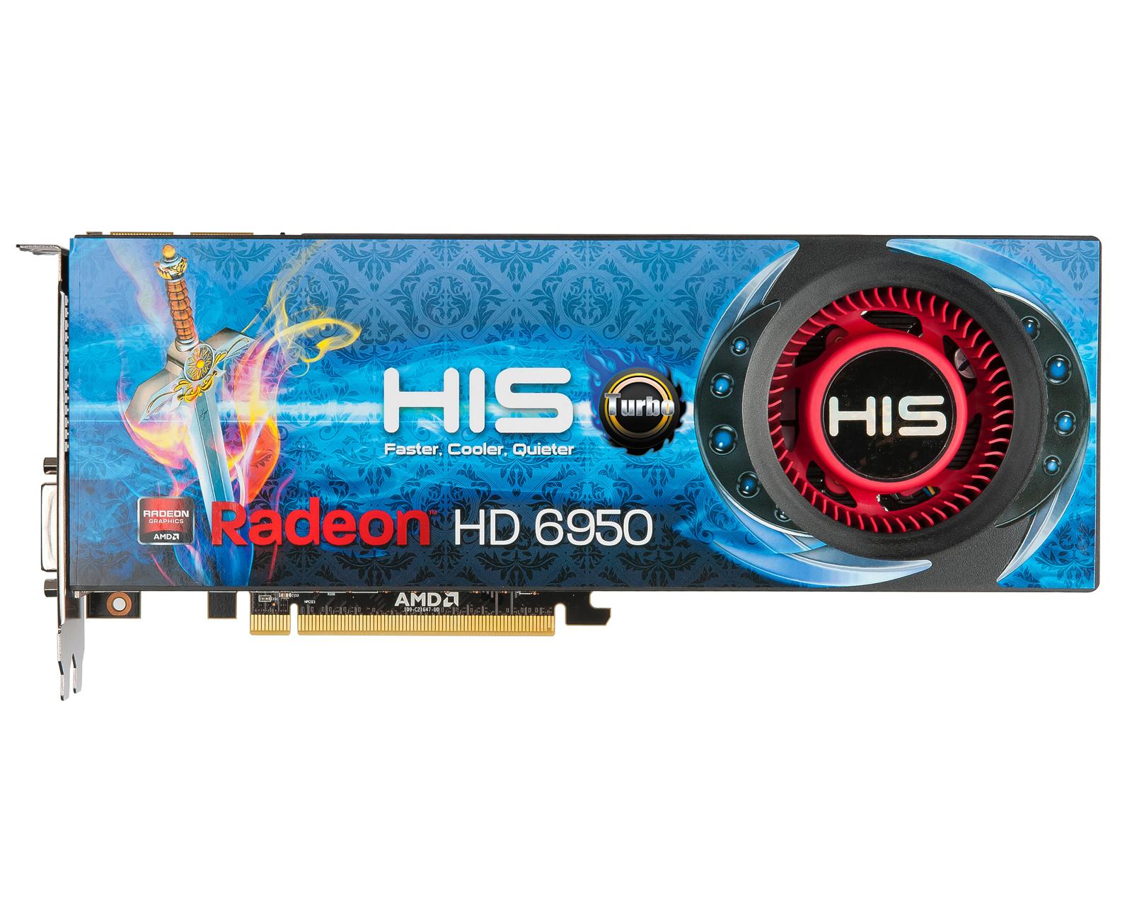 HIS 6950 Fan Turbo 2GB GDDR5 PCI-E 2xDVI/HDMI/2xMini DP < HD
