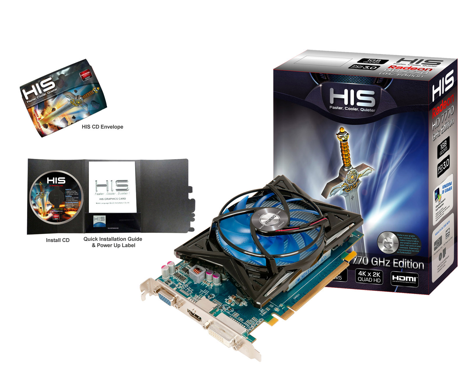 HIS 7770 iCooler 1GB GDDR5 PCI-E DVI/HDMI/VGA < HD 7700 Series