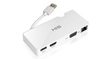 HIS Multi-View USB Portable Docking Station, Gigabit Ethernet for Mac & Windows (HDMI + VGA up to 2048 x 1152, USB 3.0 port)