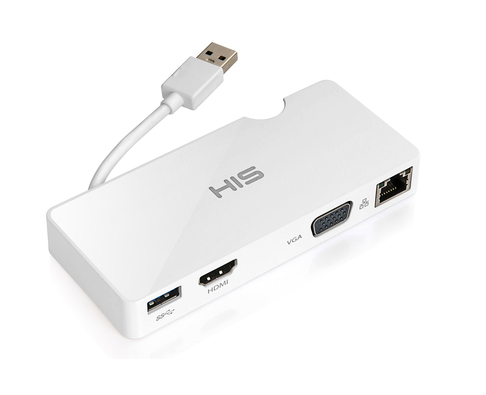 HIS Multi-View USB Portable Docking Station, Gigabit Ethernet for ...