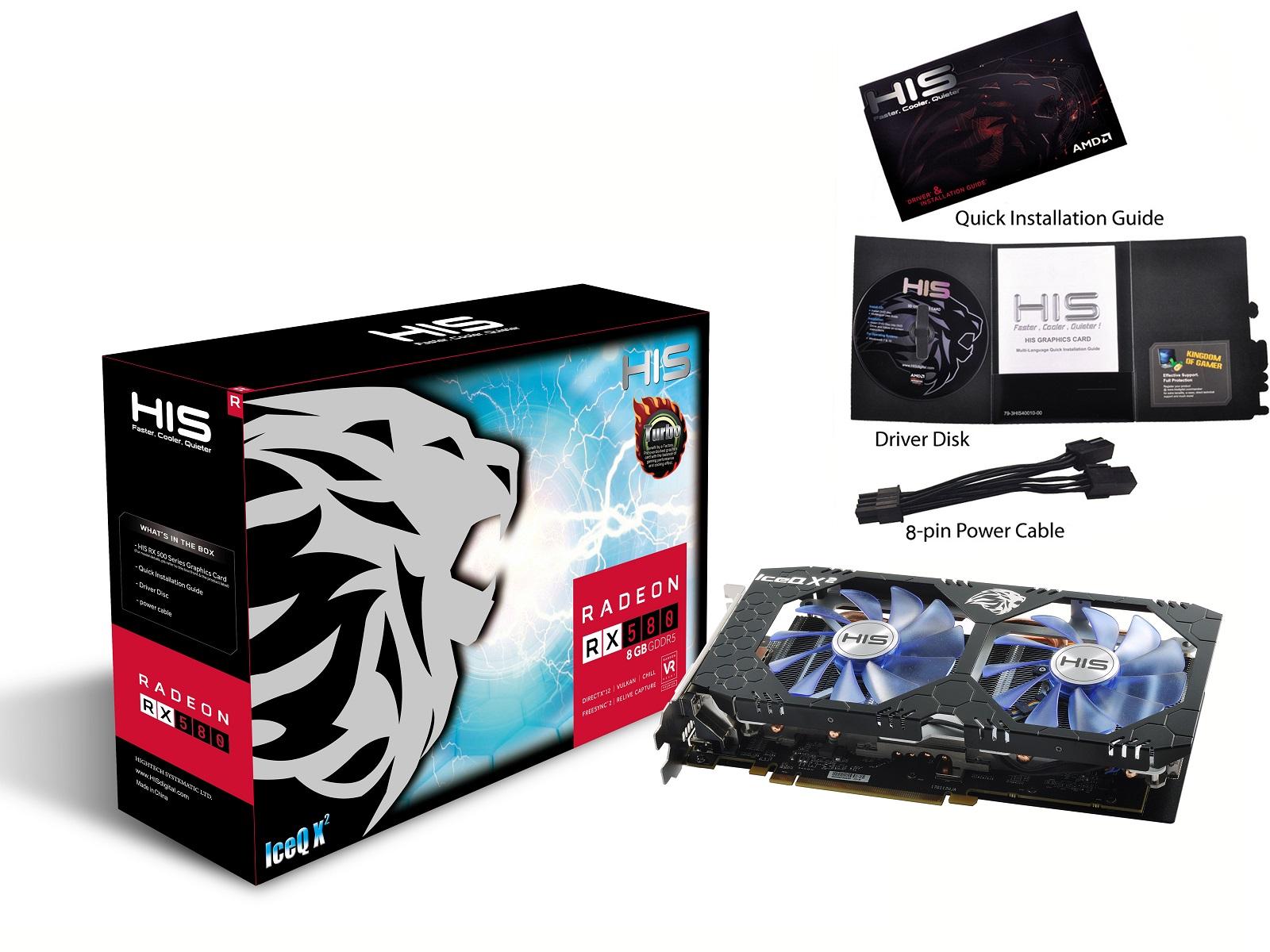 HIS RX 580 IceQ X² OC 8GB < RX 580 Series < Desktop Grafik