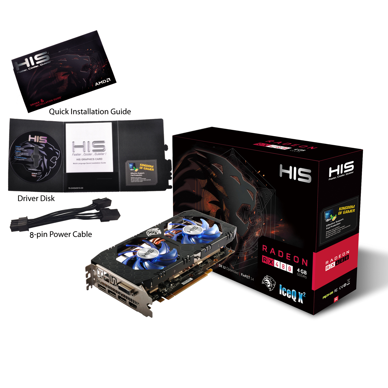 HIS RX 480 IceQ X² 4GB < RX 480 Series < Desktop graphics