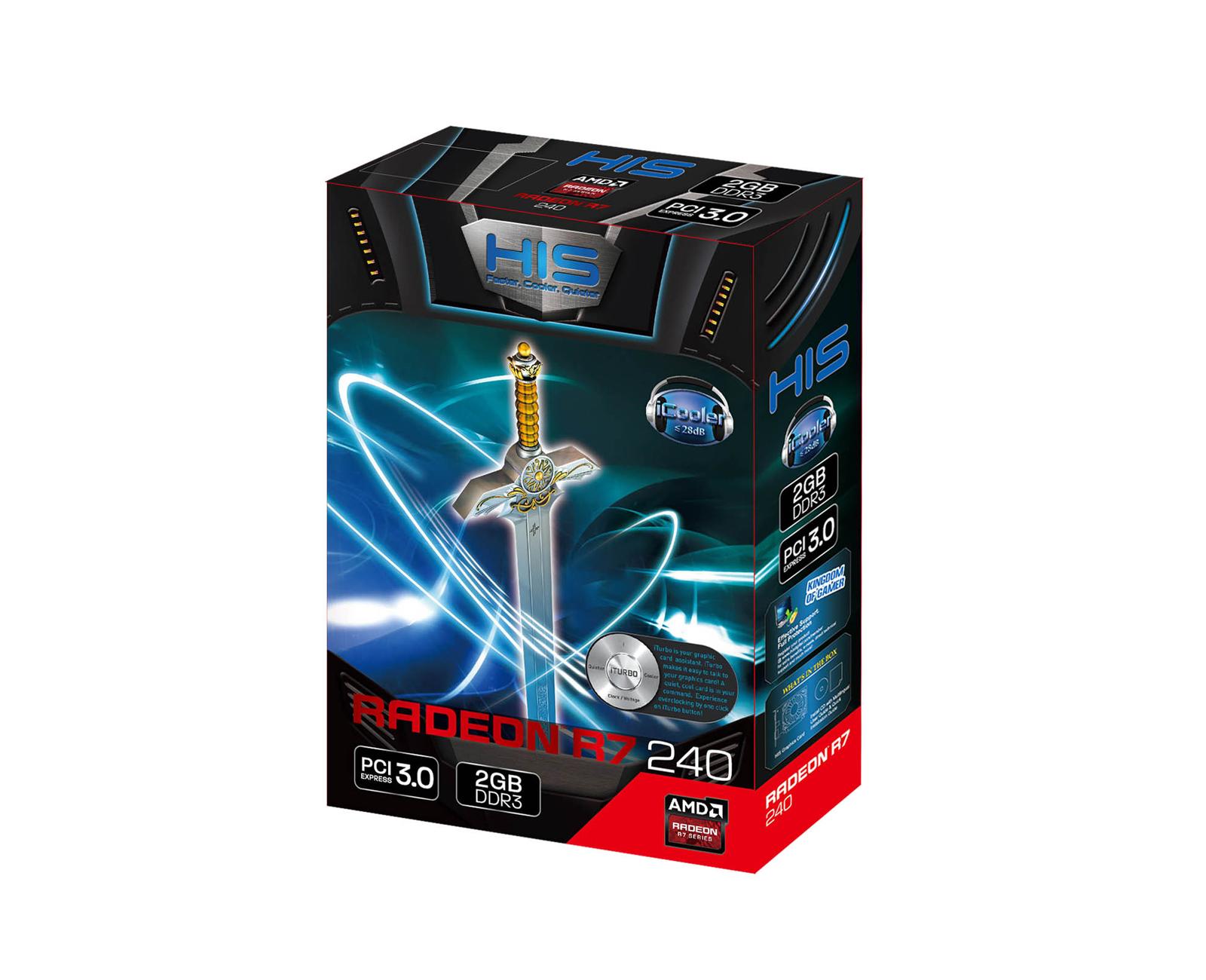 HIS R7 240 iCooler 2GB DDR3 PCI-E HDMI/SLDVI-D/VGA < R7 240